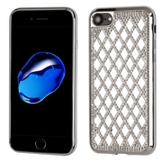 Insten Hard Diamante TPU Case For Apple iPhone 7 - Silver