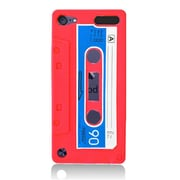 Insten Cassette Tape Rubber Cover Case For Apple iPod Touch 5th Gen - Red