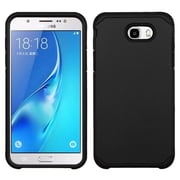 Insten Astronoot Dual Layer Hybrid Hard TPU Protective Case For Samsung Galaxy J7 (2017) / Sky Pro - Black