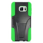 Insten Hard Hybrid Plastic 2-Layer Case with stand For Samsung Galaxy S6 Edge Plus - Green