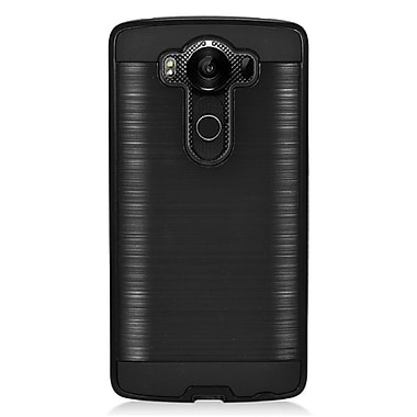 Insten Hard Hybrid Rubberized Silicone Case For LG V10 - Black