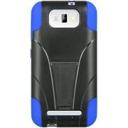 Insten Hard Hybrid Plastic Silicone Cover Case w/stand For BLU Studio 5.5 - Black/Blue
