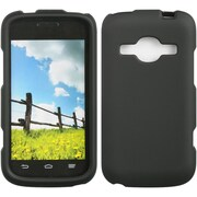Insten Hard Crystal Rubber Skin Protective Shell Case For ZTE Concord II - Black