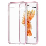 Insten Rubber Bumper For Apple iPhone 7 Plus - Clear/Pink