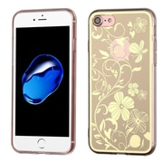 Insten Phoenix-tail Flowers Gel Case For Apple iPhone 7 - Gold/White