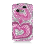 Insten Hearts Hard Bling Case For Kyocera Rise C5155 - Hot Pink