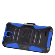 Insten Stand Dual Layer Hybrid Case with Holster For ZTE Prestige - Black/Blue