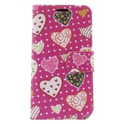 Insten Hearts Leather Wallet Case with Photo Display & Card Slot For LG Leon/Power/Tribute 2/Destiny/Risio - Pink