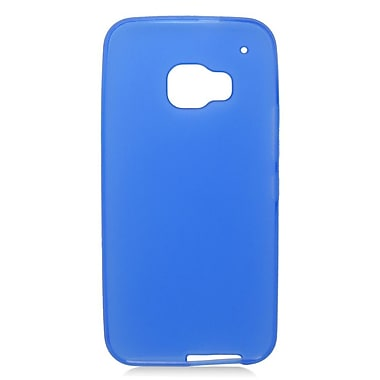 Insten Rubber Gel Skin Cover Case For HTC One M9 - Blue