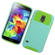 Insten Hard Dual Layer Silicone Cover Case For Samsung Galaxy S5 - Mint/Green