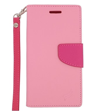 Insten Leather Case with Lanyard & Photo Display For Samsung Galaxy Grand Prime - Pink/Hot Pink