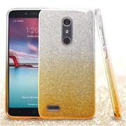 Insten Hard Hybrid Glitter TPU Case For ZTE Zmax Pro - Gold