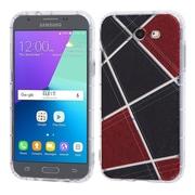 Insten Irregular Geometric Denim Design TPU Candy Skin Gel Rubber Back Case For Samsung Galaxy Express Prime 2/J3 (2017)