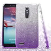 Insten Hard Dual Layer Glitter TPU Case For ZTE Zmax Pro - Purple