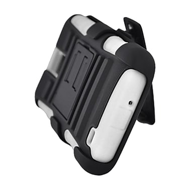 Insten Advanced Armor Hybrid Stand Holster Case Cover for Samsung Galaxy S2 Hercules SGH-T989 (T-Mobile) - White/Black
