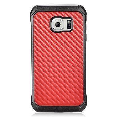 Insten Carbon Fiber Hard Dual Layer Hybrid Case For Samsung Galaxy S7 Edge - Red/Black