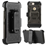 Insten Fish Scale Performance Hybrid Hard PC/TPU Case Holster Combo with H-Style Stand For Apple iPhone 7 Plus - Gray