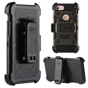 Insten Fish Scale Performance Hybrid Hard PC/TPU Case Holster Combo with H- Style Stand For Apple iPhone 7 - Gray