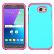 Insten Hard Dual Layer TPU Case For Samsung Galaxy J3 (2017) - Teal/Pink