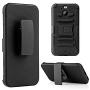 Insten Hybrid Hard PC/TPU Dual Layer Case Skin with H Style Stand For HTC Bolt - Black