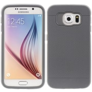 Insten Aluminum Hybrid TPU/Hard PC Bumper Cover Case For Samsung Galaxy S6 - Gray/Silver