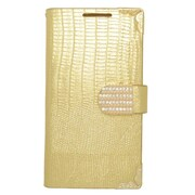Insten Wallet Leather Case with Card slot & Diamond For HTC Desire 510 - Gold