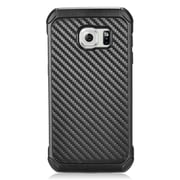 Insten Carbon Fiber Dual Layer Case For Samsung Galaxy S7 Edge - Black