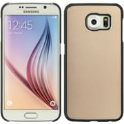 Insten Aluminum Hard Snap On Back Skin Cover Case For Samsung Galaxy S6 - Gold/Black