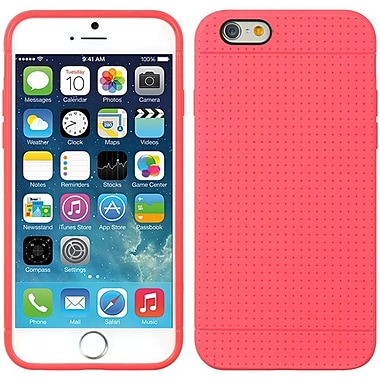 Insten TPU Dots Ultra Thin Skin Rubber Gel Shell Case For Apple iPhone 6 / 6s - Hot Pink