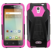 Insten Hard Dual Layer Plastic Silicone Cover Case w/stand For Alcatel One Touch Elevate - Black/Hot Pink