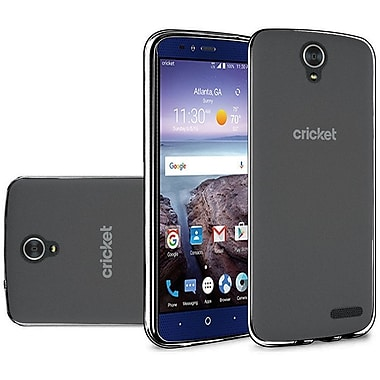 Insten Frosted TPU Rubber Skin Back Gel Shell Cover Case For ZTE Grand X 4 - Black