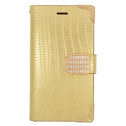 Insten Flip Leather Wallet Fabric Case with Card slot For Samsung Galaxy Avant - Gold