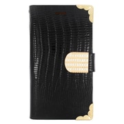 Insten Flip Leather Wallet Cover Case with card slot For Samsung Galaxy Avant - Black/Gold