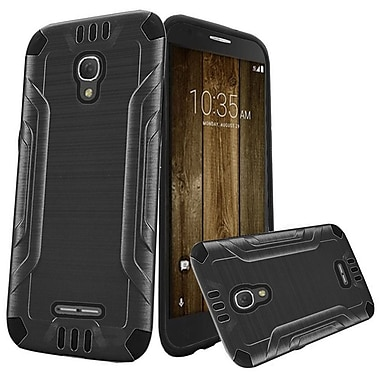 Insten Hard Dual Layer Rubberized Silicone Case For Alcatel One Touch Fierce 4 / Pop 4 Plus - Gray/Black