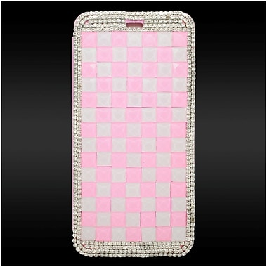Insten Leather Wallet 3D Diamond Case with Card slot For iPhone 6s Plus / 6 Plus - White/Pink