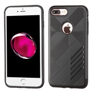 Insten Hard Hybrid Rubberized Silicone Cover Case For Apple iPhone 7 Plus - Black