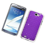 Insten Hard Rubberized Chrome Case with Diamond For Samsung Galaxy Note 2 II - Purple