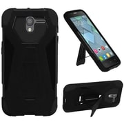Insten Hybrid T Kickstand Hard PC/Silicone Dual Layer Shockproof Case For Alcatel Stellar / Tru - Black