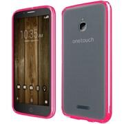 Insten For Alcatel Dawn Acquire STREAK Ideal Ultra Slim Hard Crystal Clear Transparent Fused TPU Case - Hot Pink