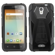 Insten Hard Hybrid Rugged Shockproof Plastic Silicone Case with Stand For Alcatel One Touch Elevate - Black