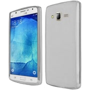Insten Frosted Rubber Case For Samsung Galaxy J7 (2015) - Clear