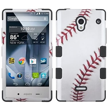 Insten Tuff Baseball Hard Dual Layer Silicone Case For Sharp Aquos Crystal - Brown/White