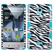 Insten Tuff Zebra Hard Dual Layer Silicone Case For Sharp Aquos Crystal - Black/White