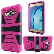 Insten For Samsung Galaxy On5 Hard Hybrid Dual Layer Silicone Rugged Shell Case Cover with Kickstand - Hot Pink/Black