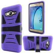 Insten For Samsung Galaxy On5 Hard Hybrid Dual Layer Silicone Rugged Shell Case Cover with Kickstand - Purple/Black