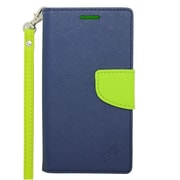 Insten Wallet Leather Case with Stand & Card slot For Alcatel One Touch Fierce 2 7040T/Pop Icon - Dark Blue/Green