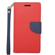 Insten Wallet Leather Case with Lanyard & Card Slot For Alcatel One Touch Fierce 2 7040T/Pop Icon - Red/Blue