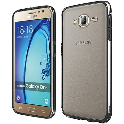 Insten Hard Crystal TPU Cover Case For Samsung Galaxy On5 - Clear/Black 24029846