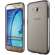 Insten Hard Crystal TPU Cover Case For Samsung Galaxy On5 - Clear/Black