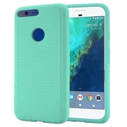 Insten For Google Pixel XL Rugged Silicone Soft Skin Gel Back Protective Case - Teal